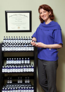 Patti with aroma therapy products