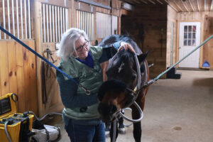 Leslie Paplaskas with horse